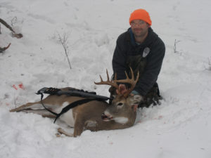 deer hunting in snow